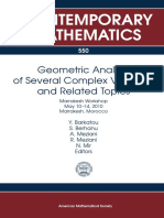 Complex Geometry Analysis Variables
