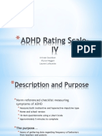 AppMeth,ADHD Rating Scale-IV