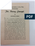 A Brief Description of the Film the Kenny Concept - Booklet