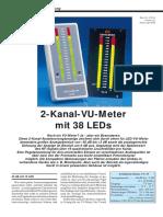 2 Kanal VU Meter Mit 38 LED