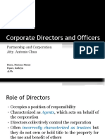 Corporate Directors and Officers