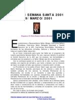 PREGÓN SEMANA SANTA DE LA LAGUNA 2001