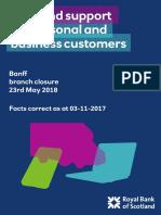 RBS Banff Branch Closure Factsheet
