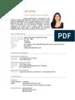 Curriculum Vitae Isabel Panta