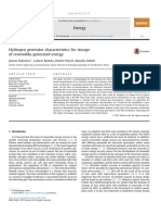 Hydrogen Generator Characteristics for Storage or Renewably Generated Energy Kotowicz 2016