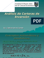 Analisis de Carteras de Inversion