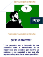 Evaluación y formulación de proyectos
