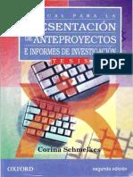 Manual Para La Presentación de Anteproyectos e Informes de Investigación - Corina Schmelkes