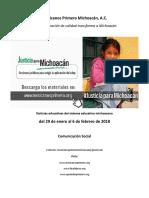 Síntesis Educativa Semanal de Michoacán al 6 de febrero de 2018
