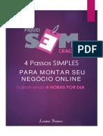eBook 4 Passos Para Montar Seu Negócio Online
