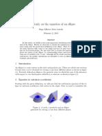 Studies on Ellipse Equation