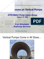 Vertical Pump Repair Issues