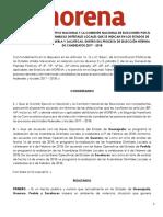Suspensión de las Asambleas Locales de Morena