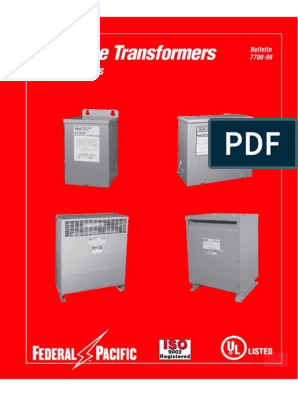 [DIAGRAM_0HG]  379273_Specification_Sheet.pdf | Transformer | Power (Physics) | Federal Pacific Transformer Wiring Diagram |  | Scribd