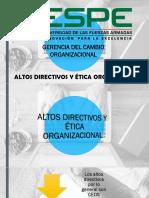 Altos Directivos y Ética Organizacional