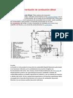 Sistema de Alimentación de Combustión Diésel