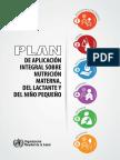 Plan Integral de La Nutriciòn de La Mama, Lactante y Niño Pequeño OMS