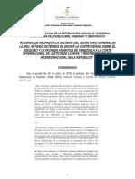 Proyecto de Acuerdo de Rechazo de Llevar Controversia Del Esequibo