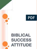 Biblical Success Attitude