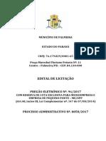 Edital Pregão Eletrônico Nº.96.2017 - Materiais Elétricos Com Reserva de Cota Exclusiva Para ME.epp