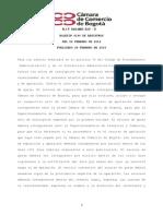 Camara de Comercio de Bogotá (4190) Febrero 26 de 2016 Publicado 29 de Febrero de 2016