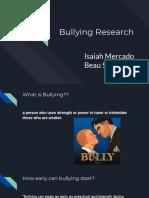 bullying research presentation