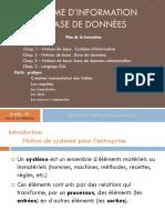 Bases de Données Et SI (Partie 1 & 2)