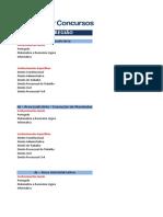Comparativo de Editais FCC