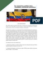 Ecuador _economía y Política de La Revolución Ciudadana, Evaluación Preliminar
