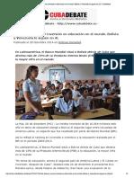 20141228_Cuba tiene la mayor inversión en educación en el mundo