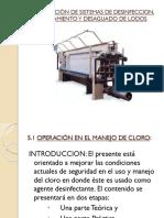 Operación de Sistemas de Desinfeccion, Espesamiento y Desaguado de Lodos