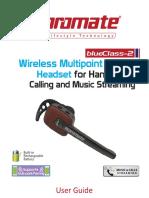 Manual Casca Bluetooth Promate BlueClass-2