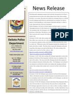 DeSoto Police Department statement (I)