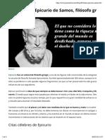40 frases de Epicurio de Samos, filósofo griego