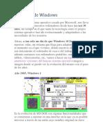 Versiones de Windows