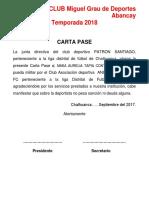CARTA PASE Miguel Grau 208