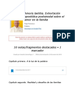 """Notas de """" Amoris Laetitia, Exhortación Apostólica Postsinodal Sobre El Amor en La Familia """""""