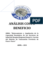 Analisis Costo Beneficio - Mes de Abril