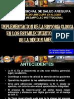 IMPLEMENTACION DE LA HISTORIA CLINICA INTEGRAL
