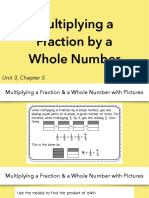 3.5 Multiplying a Fraction by a Whole Number