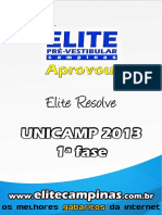 Elite Resolve Unicamp 2013 1a Fase
