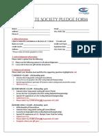 The Granite Society Pledge Form