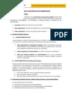 Tema 3 Eficacia y Ejecuciòn Del Acto Administrativo
