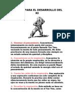 Reglas Para El Desarrollo Del Ki
