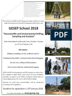 GESEP School 2018 Call