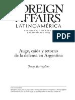 Auge, Caída y Retorno de La Defensa en Argentina - Jorge Battaglino [FA]