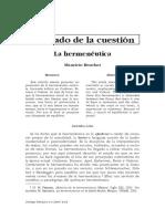 01c Beuchot Mauricio - El estado de la cuestion.pdf