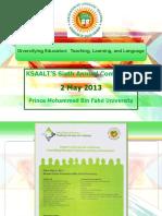 Press Kit - KSAALT Conference, 2 May 2013