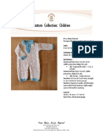 Knitting childs onesie