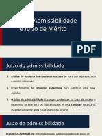 Apresentação Juízo de Admissibilidade e Juízo de Mérito